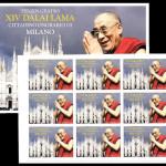 Dalai Lama francobollo commemorativo cittadinanza Milano