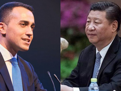 Luigi Di Maio-vicepremier-ministro del lavoro-shanghai-cina-china international import expo-aref international onlus