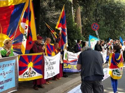 No all'accordo con la Cina, sì ai diritti umani in Tibet-tibet cina-accordo cina italia-tibet-aref internazional onlus-No all'accordo con la Cina-report manifestazione roma