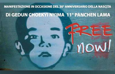 PANCHEN LAMA-aref international onlus-manifestazione roma PANCHEN LAMA-manifestazione roma tibet