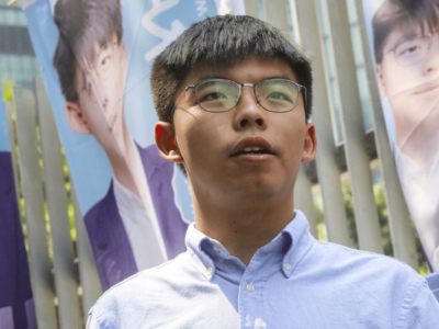 Joshua Wong no espatrio in Italia aref international onlus