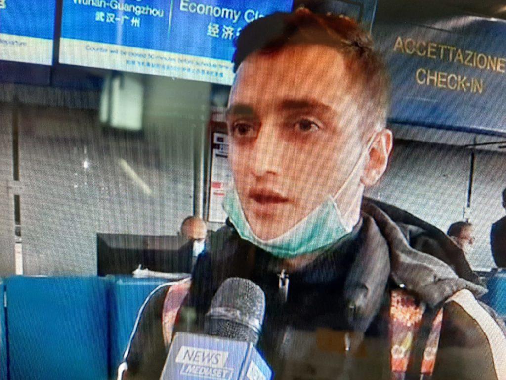 Gabriele De Fazio verso Cina intervista coronavirus aref international onlus