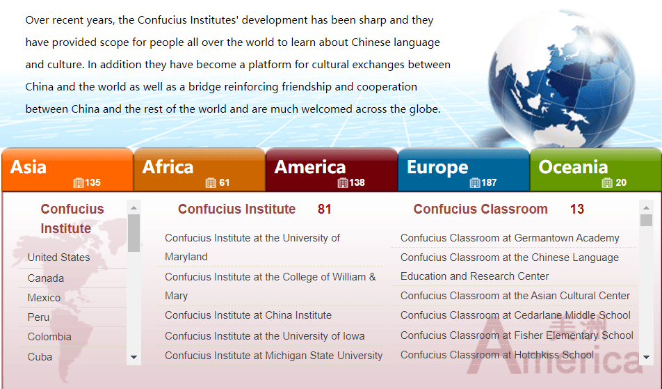 dati istituto confucio nel mondo