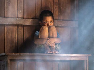 uno dei bambini uiguri