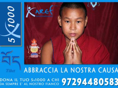 5x1000 ad aref international onlus per bambini tibetani