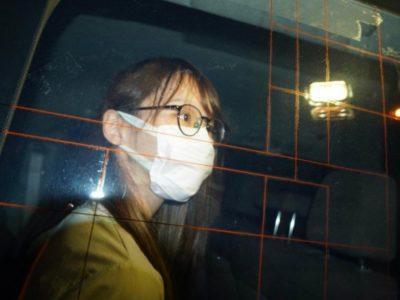 agnes chow al momento dell'arresto a hong kong