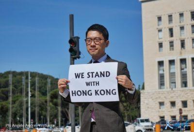 Nathan Law attivista per la democrazia di Hong Kong a Roma