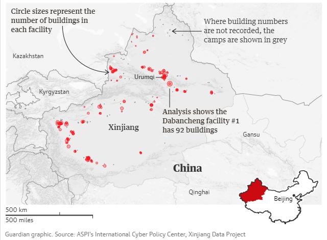 campi di internamento nello xinjiang