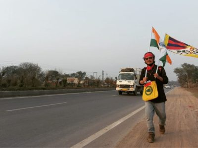 marcia per il tibet di tenzin tsundue