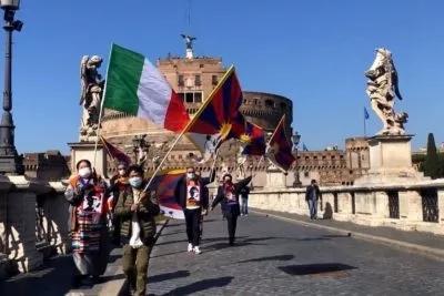 manifestazione per giornata della rivolta tibetana a roma